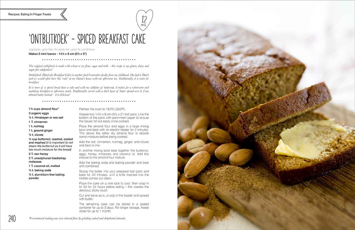 Recipe page design layout.