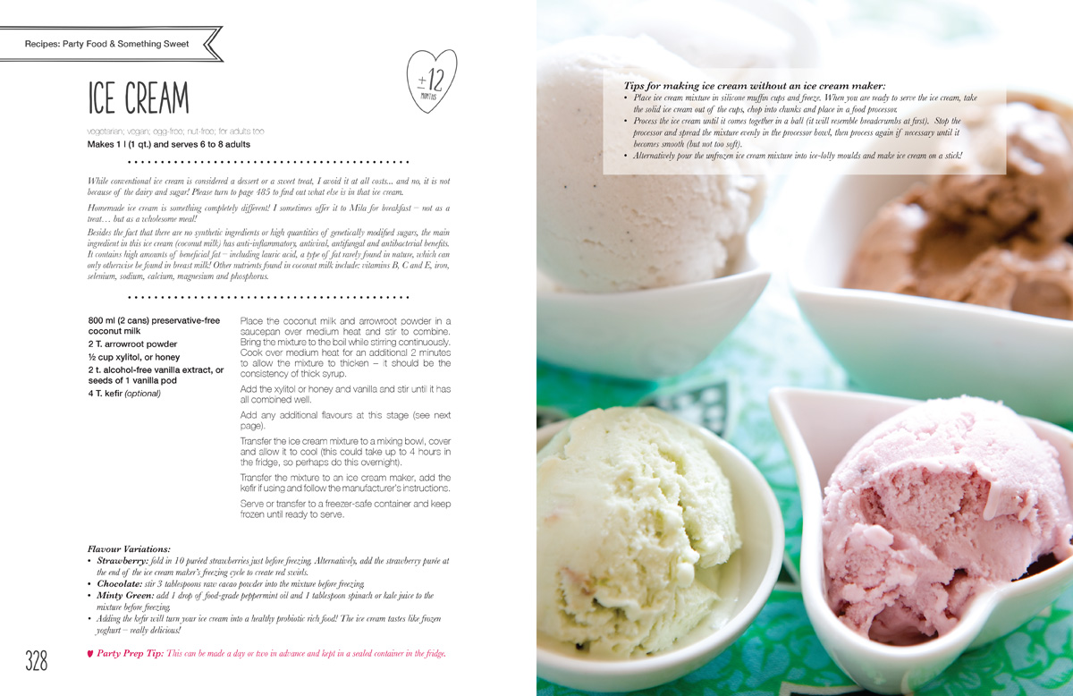 Mila's Meals Ice Cream Recipe