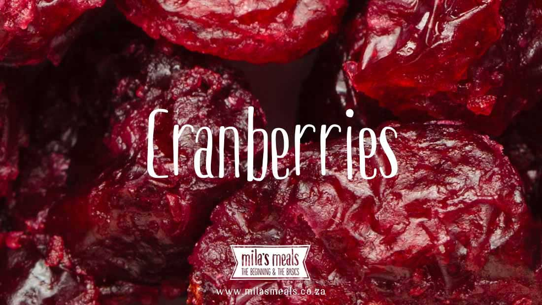 Mila's Meals Glossary - Cranberries