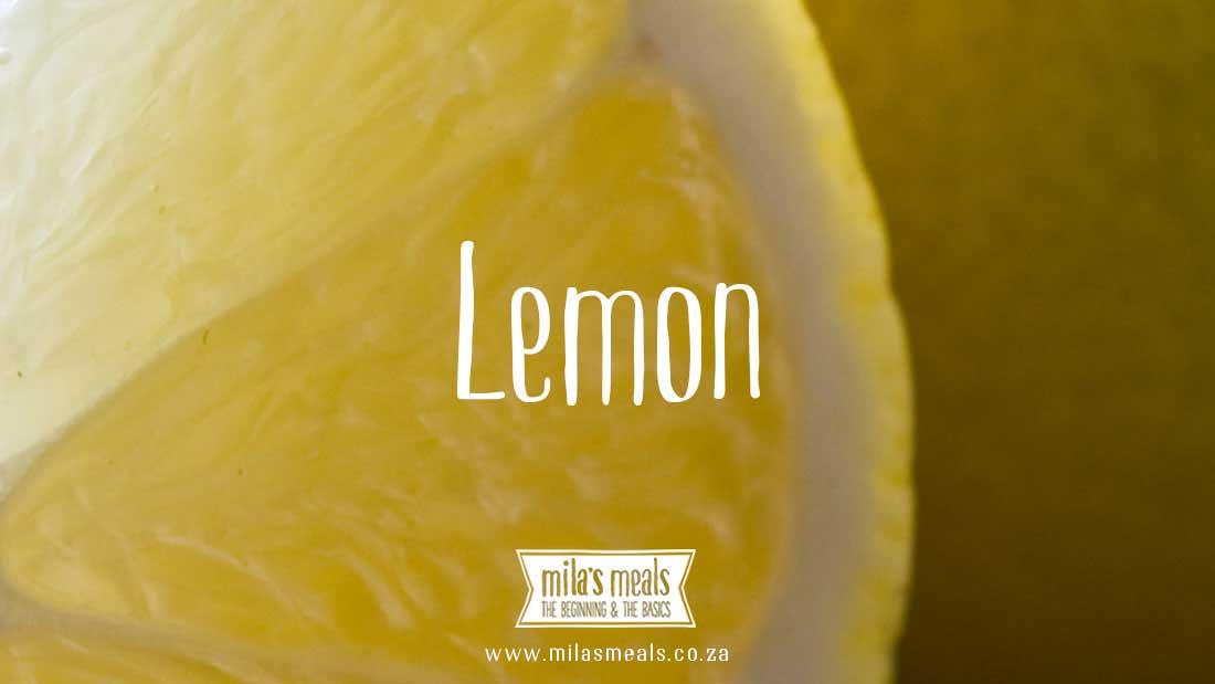 lemon nutriton information