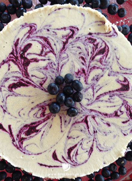 Mila's Meals Dairy-free Blueberry Cheesecake