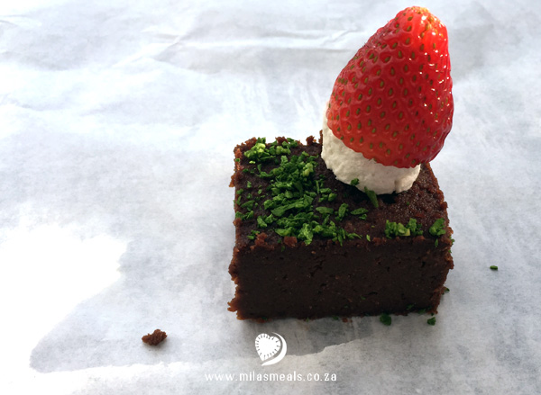 Mila's Meals Chocolate Brownie Fairy Gardens